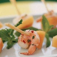Shrimp, Cantaloupe and Fresh Herb Skewers   | Williams-Sonoma