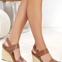 Very Volatile Santy Brown Platform Wedges