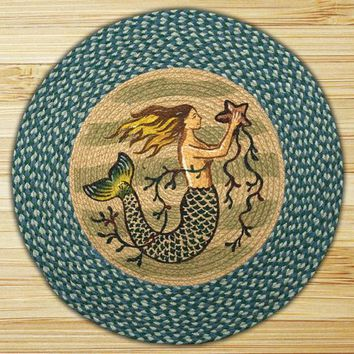 Mermaid Round Patch Rug