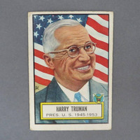 1952 TOPPS Look 'n See Card Number 5, Harry S. Truman, Historical Trading Cards