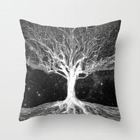 Starry Night Tree of Life Throw Pillow by TreeofLifeShop