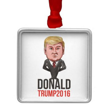 Trump 2016 President Republican Caricature Metal Ornament