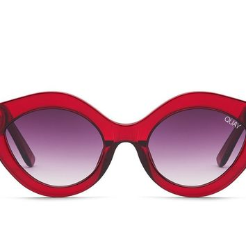 Quay Goodnight Kiss Red Sunglasses / Purple Fade Lenses