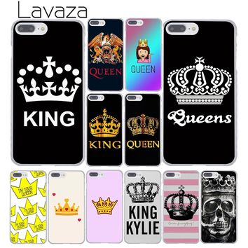 Lavaza Princess Queen King Love Pair Best Friends Emoji Phone Case for iPhone XR XS Max X 8 7 6 6S Plus 5 5S SE 5C 4S 10 Cover