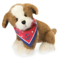 "Boyds Plush by Enesco 9"" Dog With Americana Bandana NWT  4041833"
