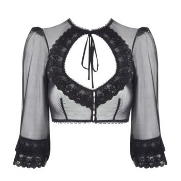 Eunice Black Top   By Agent Provocateur