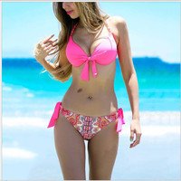 Swimsuit New Arrival Beach Hot Summer Sexy Spaghetti Strap Floral Swimwear Women's Fashion Bikini [7767319623]