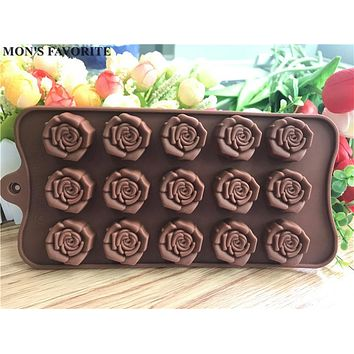Rose Flowers Shaped Silicone Chocolate Mold