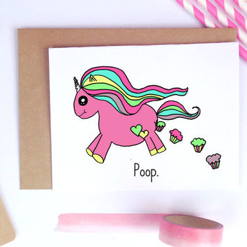 Funny Birthday Card, Valentine Card, Best Friend Gift, Best Friend Card, Unicorn