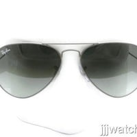 New Ray Ban Aviator Large Metal Gray Gradient Sunglasses RB3025 029/71 55 $165