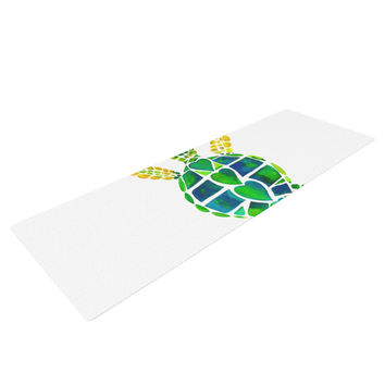 "Catherine Holcombe ""Turtle Love"" Green Teal Yoga Mat"