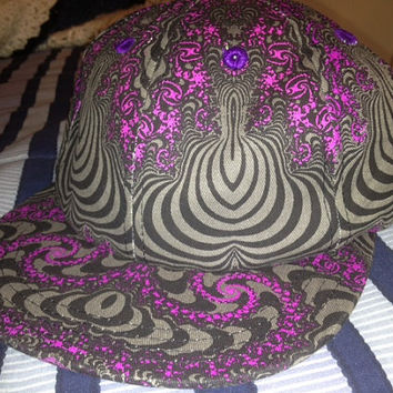 Trippy Space Tribe snapback great for festivals, raves, parties