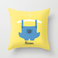 Minion Throw Pillow by Jane Mathieu