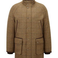 Green Overcheck Field Coat | Viyella