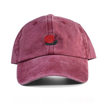 The Hundreds ROSE Baseball Cap men washed cotton Dad Hat women unisex headwear