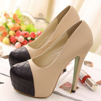 Womens Fashion Sandals High Heels Platforms Shoes Block Colors