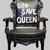 GOD SAVE THE QUEEN arm chair