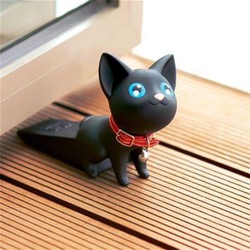 Black Kitty Doorstop