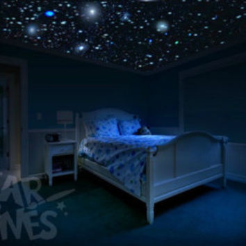 Ceiling Stars for Romantic Bedroom - DIY Glow in the Dark Star Decals. Surprise Anniversary Gift - Glow Stars! Free Gift Wrapping.