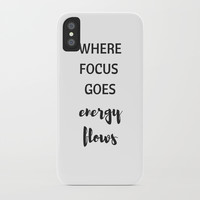 where focus goes energy flows iPhone Case by Love from Sophie