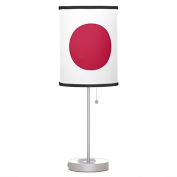 Patriotic table lamp with Flag of Japan