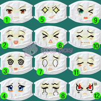 14 Patterns Anime Emotion Face Dust Mask SP152120