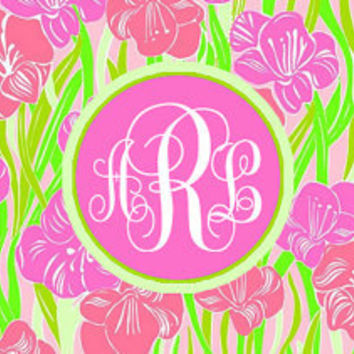 Facebook Cover Photo Monogram Lilly Pulitzer Pattern Glady
