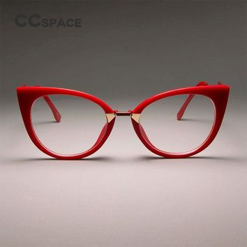 CCSPACE Ladies Sexy Cat Eye Glasses Frames For Women GORGEOUS Brand Designer Optical EyeGlasses Fashion Eyewear 45045