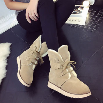On Sale Hot Deal Winter Stylish Casual Round-toe Boots [8865323596]