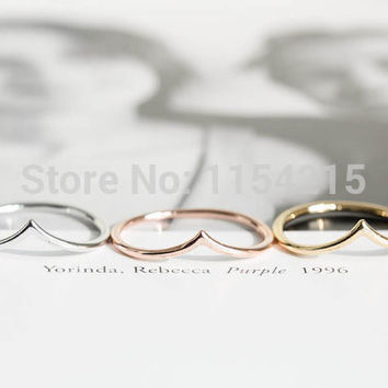 Handmade Gold,silver,rose gold chevron rings for women,couple rings,Dainty rings