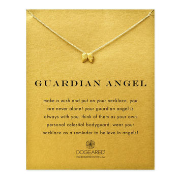 Dainty Gold Necklace with Angel Wings