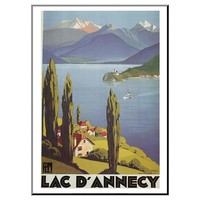 Lac Dannecy by Roger Broders Mounted Print