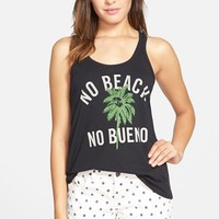 Junior Women's Malibu Native 'No Beach No Bueno' Graphic Tank,