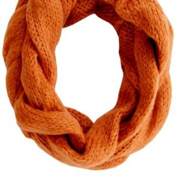 Fuzzy Wuzzy Loop Scarf - Orange