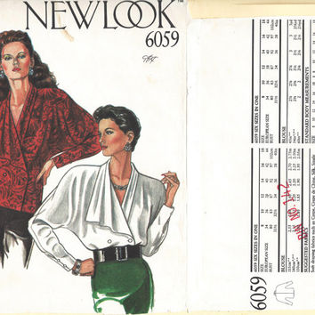 Misses Blouse, Blouse Sew Pattern, Clothing Pattern, Misses Top Pattern, Vintage New Look Sew