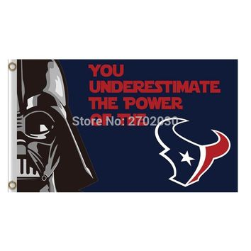 You Underestimate The Power Houston Texans Flag Banners Football Team Flags 3x5 Ft Super Bowl Champions Banner Texan