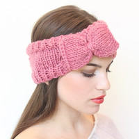 Knitted  Headband With Cute Bow Great accessory for your outfit