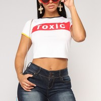 Toxic Chick Tee - White