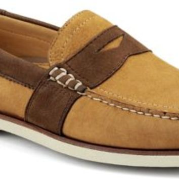 Sperry Top-Sider Gold Cup Authentic Original Penny Loafer Tan/DarkBrownLeather, Size 9M  Men's Shoes