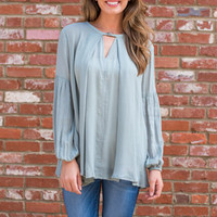 The Andrea Blouse, Sage