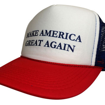 Brand New Curved Bill Make America Great Again Hat Trucker Mesh