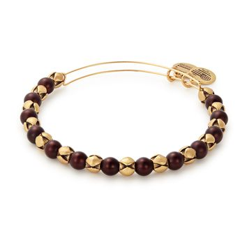 Mulberry Snowbell Beaded Bangle