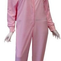 Pink Bunny Hooded Onesuit Footie Pajama for women (Medium)