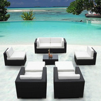 2016 Furniture Sofa Outdoor Wicker Sofa Sectional 9 Piece Resin Couch Set