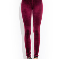 Opulent-Velvet-Leggings BLACK ROYAL WINE - GoJane.com