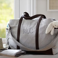Grey Herringbone Classic Diaper Bag | Pottery Barn Kids