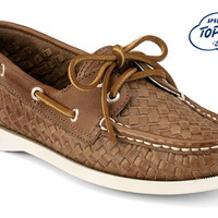 Sperry Top-Sider Women's Cloud Logo Authentic Original 2-Eye Woven Boat Shoe