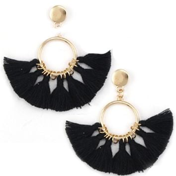 Fan-tastic Tassels - Black