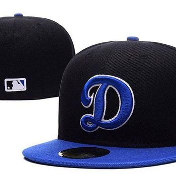LMF8KY Los Angeles Dodgers New Era MLB Authentic Collection 59FIFTY Cap Black-Blue D