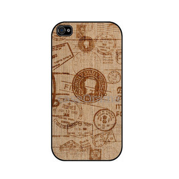 BURLAP Rubber iPhone Case ZEBRA Print iPhone 4 iPhone by caseOrama